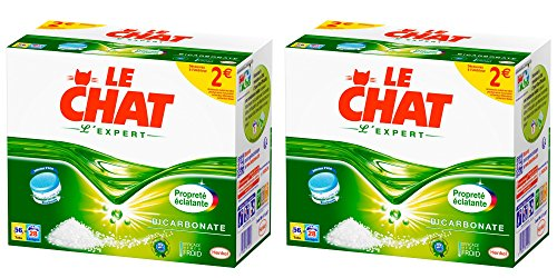 Le Chat L'Expert Lessive en Tablettes 56 Doses/28 Lavages - Lot de 2