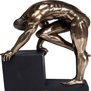 Kare Deco Figurine Nu 21 cm Bronze homme;