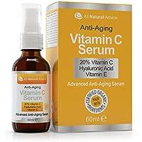 Siero alla vitamina C 20%  Completamente organico  Enorme 60 ml  Vitamina E  Acido ialuronico 11%  Idratante  Eccellente per pelli sensibili  Anti età antirughe e antimacchie  Può essere usato