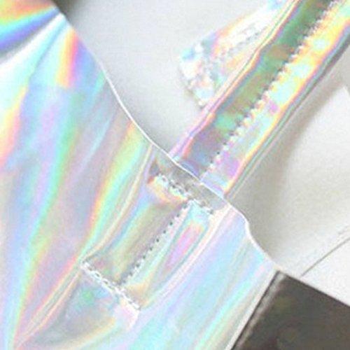 Millya , Damen Tote-Tasche silber silber silber