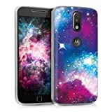 kwmobile Motorola Moto G4 / Moto G4 Plus Hülle - Handyhülle für Motorola Moto G4 / Moto G4 Plus - Handy Case in Mehrfarbig Pink Schwarz