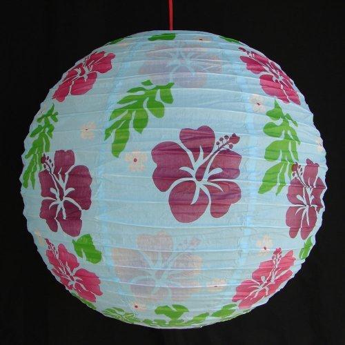 Feng Shui de 2 de color azul con linternas de papel de fotos