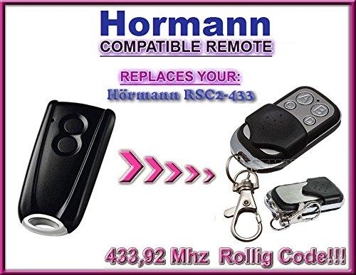 Hörmann-Die RSC2433/Hormann-Die RSC2433Kompatible Ersatz-Fernbedienung, 433,92MHz, mit Rolling-Schlüsselanhänger