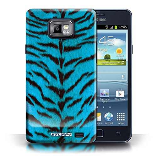 Hülle Case für iPhone 6+/Plus 5.5 / Lila Entwurf / Tiger Tier Haut/Print Collection Blau