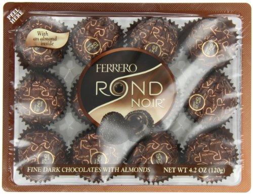 Ferrero Rondnoir Dark Chocolates w/ Almonds, 12 Piece