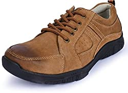 Action Mens Brown Leather Casual Shoes-8 UK