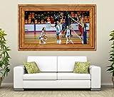 3D Wandtattoo Volleyball Spiel Frauen Turnier selbstklebend Wandbild Tattoo Wohnzimmer Wand Aufkleber 11M1023, Wandbild Größe F:ca. 140cmx82cm