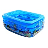 Ren Chang Jia Shi Pin Firm Aufblasbare Badewanne Kinder Badewanne Aufblasbarer Pool Erwachsene Badewanne Whirlpool Familie Pool Baby Badewanne (Color : Blue, Size : 120*95*55cm)