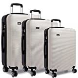 Kono Luggage Suitcase Hard Shell 4 Wheel Spinner Holiday Travel Business Trip Trolley