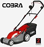 "Cobra 15"" Electric Lawn Mower + Roller For Stripes Mulching or Collect GTRM38"