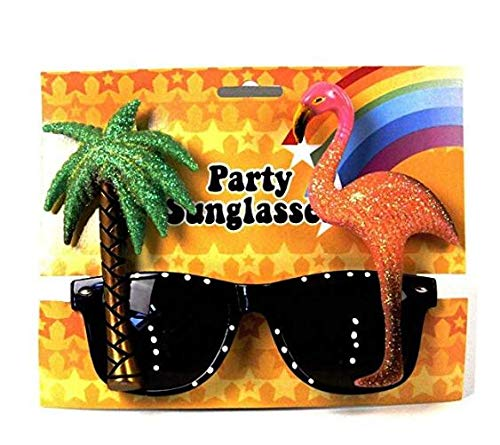 Pink Flamingo/Palm Tree Brille Spezifikationen für Hawaiian Tropical Animal Fancy Dress Brille