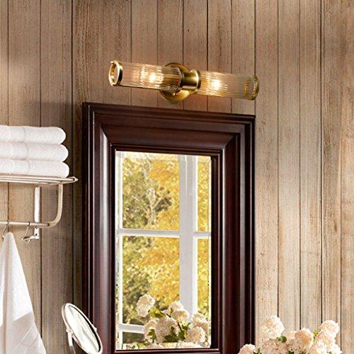 & Lampe Salle de Bain Miroir Phares, Salle De Bains De Toilette Américain Lampe Cuivre Miroir Phares Salon Mur Lampe Chambre Chevet Lampe Modèle Verre Miroir Phares Lumière