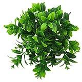 MagiDeal Künstliche Kunststoff Kleine Blätter Pflanze Gras Bund Laub Bonsai für Haus Hochzeit Dekor - Typ D, 33 x15x 5cm