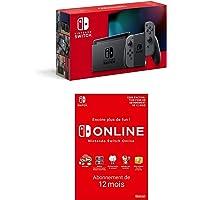 Console Nintendo Switch avec une paire de Joy-Con grises + Nintendo Switch Online - Abonnement 12 Mois (Code de…