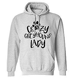 Crazy greyhound lady hoodie XS - 2XL