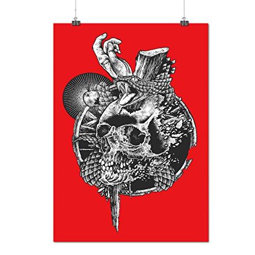 Kostüm Joker Asyl (Schädel Schlange Tod Gote Mattes/Glänzende Plakat A3 (42cm x 30cm) |)