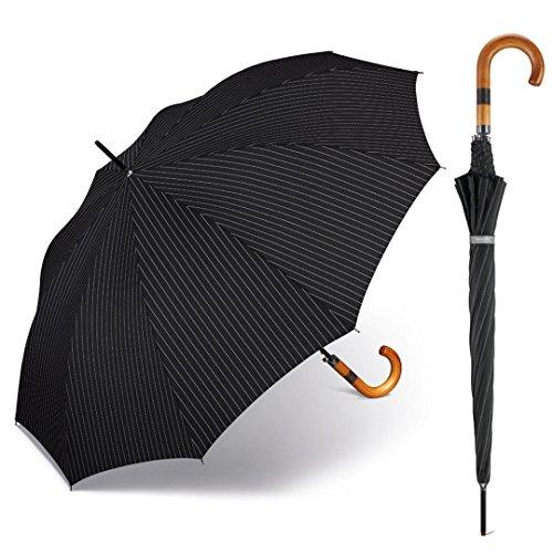 happy rain selection Herren Regenschirm Stockschirm Gents Long AC 10 mit Automatik needle stripe / Nadelstreifen