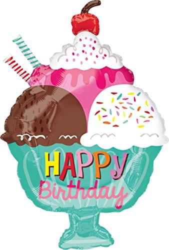 nballon Junior Shape Happy Birthday Eisbecher ()