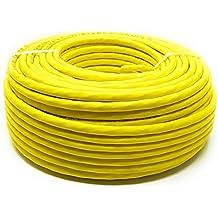 50M - Cat.7A + (Cat 8) Cable LAN de red Ethernet (Reel - Drum) 1500 MHz - 4 pares - Alta velocidad - Libre de halógeno / Cobre / Super Fast - (PoE) / PoE + (Amarillo)