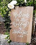 CELYCASY Panneau de Bienvenue de Mariage en Bois de pin Naturel pour Mariage