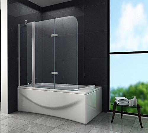 Duschtrennwand TRIPLE 150 x 140 (Badewanne)