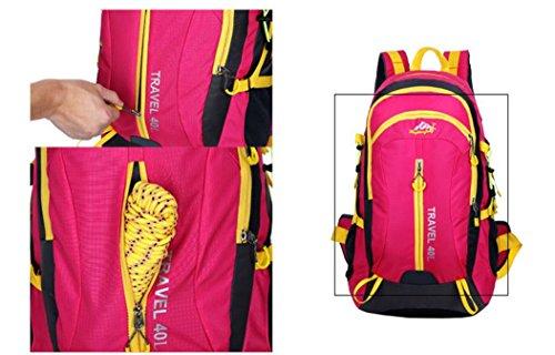 Nuovo viaggio zaino spalla esterna borse 40L impermeabile alpinismo borse , yellow rose red