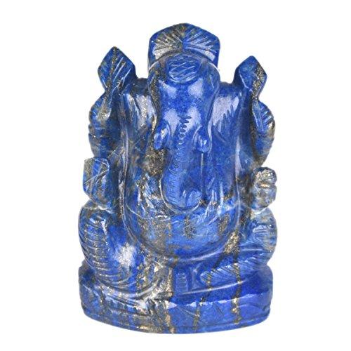 gemhub Ungefähr 1884,50 Ct. Lab Certified Lapislazuli Edelstein Ganesh Ganesha Schöne Statue Hindu Viel Glück Gott V-7843