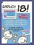 Riesen Glückwunschkarte Endlich 18! Happy Birthday Freifahrtschein... A4