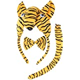 3 Pcs Kids Cute Animal Ears Headband Party Tie And Tail Cosplay Costume Party Favors(Tiger)