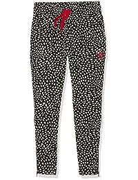 adidas niña ywf crepes Entrenamiento pantalones, niña, YWF Crepe, Black/White/Tomato, 5 años (110 cm)