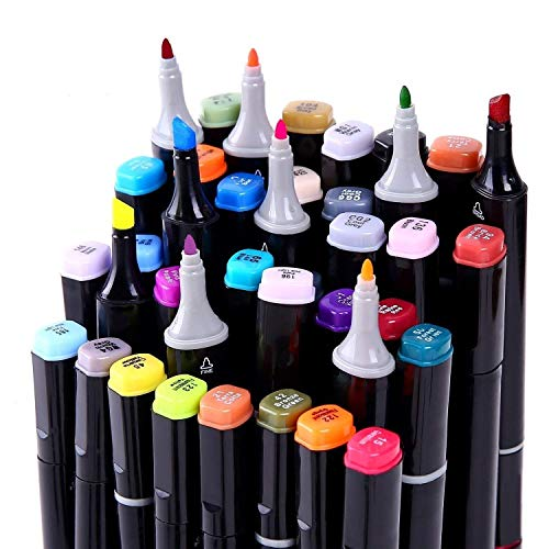 40/60/80 Marker Pens verdoppelt spitzt Marker Stifte für Kunst Sketch Twin färbig Highlighters mit Tragetasche für Malerei Coloring Hervorhebungen und Unterstreichungen