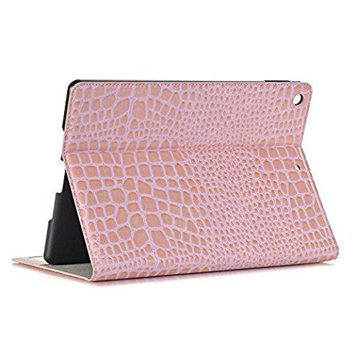 Fall, Premium Ultra Slim PU Leder Stil Flip Wallet Smart Cover Fall Ständer Card Slot Eingebauter Kartensteckplatz für iPad Pro 9.7 (Pink) ()