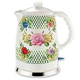 Elektrischer Keramik Wasserkocher schnurlos 2Liter 1500-1600W (Rosengarten)