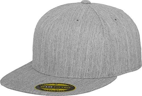 Flexfit Erwachsene Mütze Premium 210 Fitted, grau (heather), L/XL -