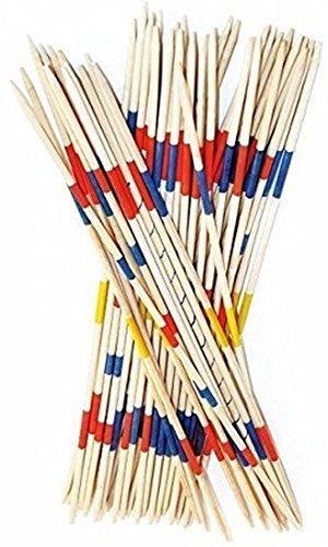 Mikado Spiel 50 cm Geschicklichkeitsspiel für die ganze Familie 41 XL Holz Stäbe für drinnen + draußen