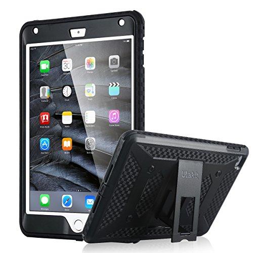 ULAK iPad Mini 4 Hülle, iPad Mini 4 Case [Knox Armor] Exklusives Hochwertiges Case Cover Hybrid TPU Schutz Hülle Etui Schutztasche Back Case für Apple iPad Mini 4(Schwarz) - 4 Defender Case
