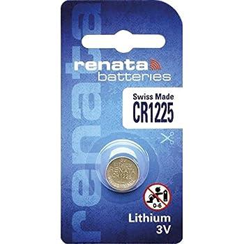 Pile bouton CR1225 lithium 3V 48 mAh Renata