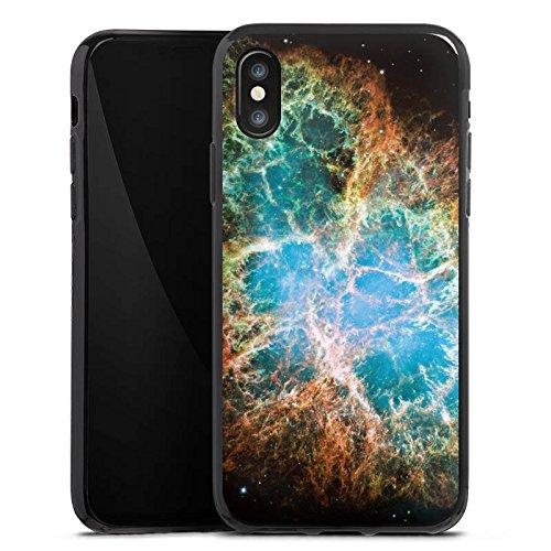 Apple iPhone X Silikon Hülle Case Schutzhülle Galaxy Muster Universum Silikon Case schwarz