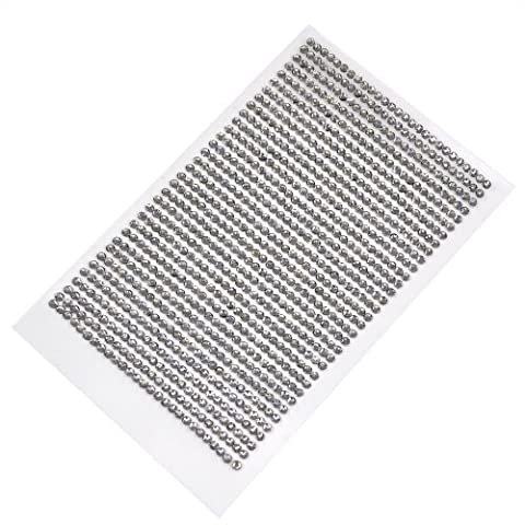 Topro 2.5~3mm Clear Rhinestone Diamante Stick on Self Adhesive Gems Pack of 2 Sheets by Topro