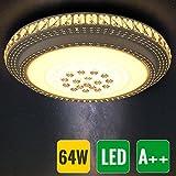HG® 64W LED Kristall Deckenleuchte Runde Schlafzimmer Flurleuchte Wandlampe Geschäft kaufhaus