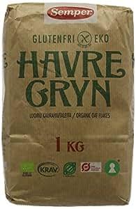Semper Gluten Free Organic Oats 1 kg (Pack of 4)