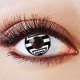 Colores Contacto lente negro sin grosor con diseño negra FUN lente para Halloween Carnaval Fiesta Cosplay Disfraz Black White