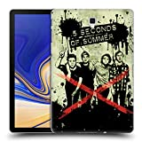 Head Case Designs Offizielle 5 Seconds of Summer Frieden Grunge Gruppenbild Splatter Kunst Ruckseite Hülle für Samsung Galaxy Tab S4 10.5 (2018)