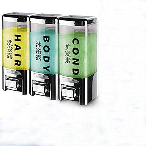 Alberghi plastica punch-libero erogatore di sapone,domestico bagno bagno tipo di montaggio a parete sapone per le mani bagno shampoo distributore-l