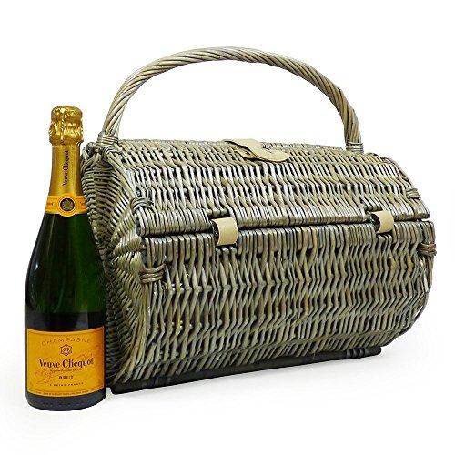 ington' Picknickkorb Für 2 Personen Mit Veuve Clicquot Champagner - Ideale Geschenkidee zum Geburtstag, Hochzeit, Ruhestand ()