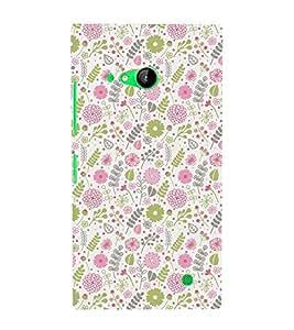 Classic Cute Flowers Art 3D Hard Polycarbonate Designer Back Case Cover for Nokia Lumia 730 :: Microsoft Lumia 730 :: Microsoft Lumia 735