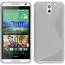 Funda de silicona para HTC Desire 610 - S-Style transparente - Cover PhoneNatic Cubierta + protector de pantalla
