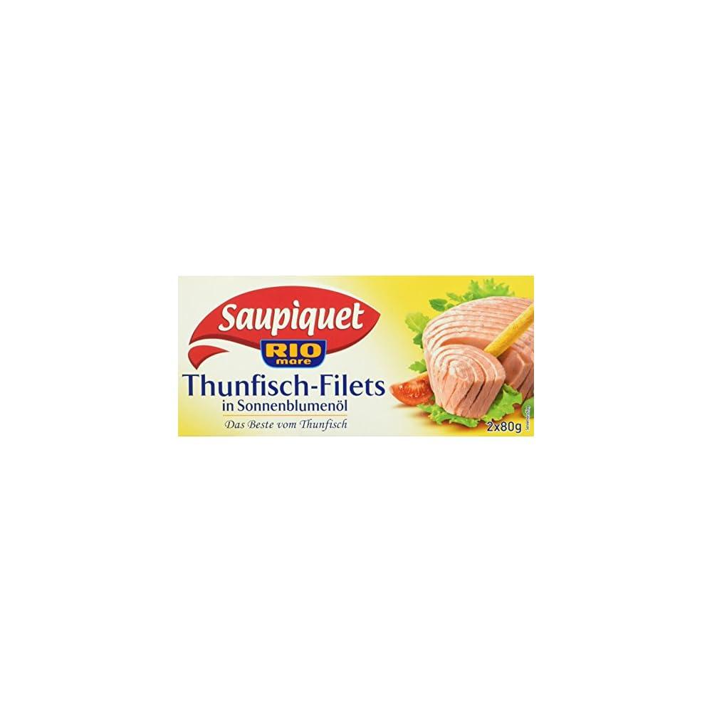Saupiquet Thunfisch Filet In Sonnenblumenl 10er Pack 10 X 2 X 80 G Dose