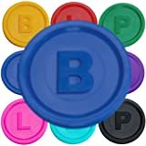 SchwabMarken 1000 Pfandmarken, Chips, Token Farbe Blau B mit den Buchstaben B P oder L in 14 Farben zum TOP-Preis