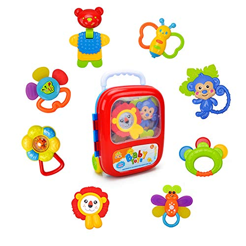 Wishtime Teether Activity, Grab Toys,Shaking Bell Rattles...